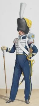 1830. Royal Guard. Infantry (6th Regiment). Head of Music. Corporal Drum.