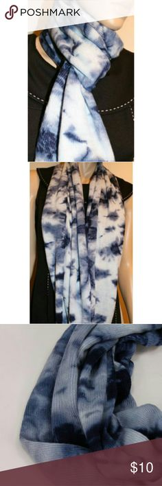BCBGeneration Tie Dye Infinity Loop Knit Scarf. BCBGeneration Tie Dye Infinity Loop Knit Scarf Blue Night New with  Tags. BCBGeneration Accessories Scarves & Wraps