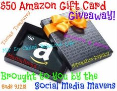 Enter to #win a $50 Amazon gift card for Back-to-School! Open Worldwide! http://pinterest.com/pin/31947478579897720/