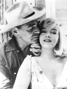 Clark Gable and Marilyn Monroe from the movie The Misfits