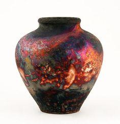 Raku ~ By Pat Armstrong from the UK. Raku Pottery, Pottery Art, Terracotta, Native American Pottery, Clay Design, Polymer Clay Art, Ceramic Clay, Porcelain Vase, Art Object