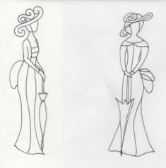 Silhouettes de femmes - Le Pergamano de MamieDo