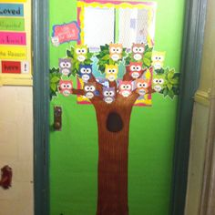 Owl theme classroom door-love this!