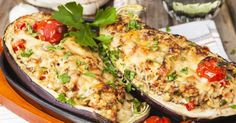 Cheesy Stuffed Eggplant