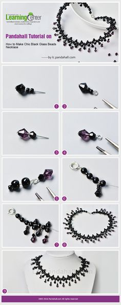 Pandahall Tutorial on How to Make Chic Black Glass Beads Necklace from LC.Pandahall.com