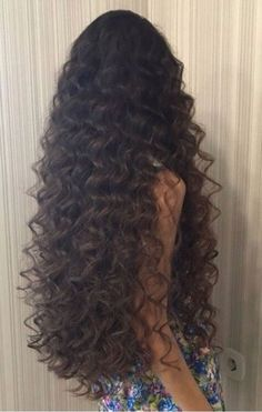 """Allegra"" Long Curly Wig With Brown Highlights human hair wig Long Brown Hair, Long Curly Hair, Wavy Hair, Curly Hair Styles, Natural Hair Styles, Black Hair, Thin Hair, Face Shape Hairstyles, Permed Hairstyles"