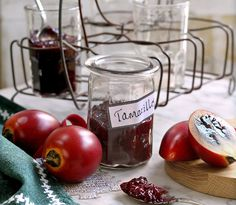Tamarillos make rich, fragrant chutney - this tangy one is great with hard cheese, seafood and Asian-style curries. Leftover Ham, Rice Wine, Chutney Recipes, Edible Gifts, Fresh Ginger, How To Make Bread, Wine Recipes, Seafood, The Cure