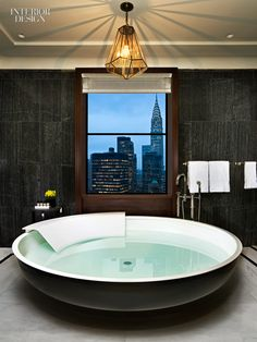 A suite at the Waldorf Astoria in New York designed by Alexandra Champalimaud.  View the slideshow