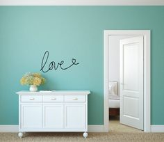 Love Wall Decal Couples Wall Decal Romantic by EyeCatcherDecals