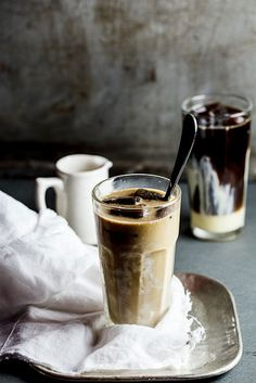 My ultimate iced coffee sweetened with condensed milk served on top of coffee ice cubes.