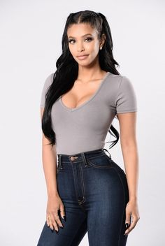 Bad Behavior Bodysuit - Coal Grey