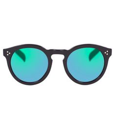 Illesteva Leonard II Green Mirrored Sunglasses