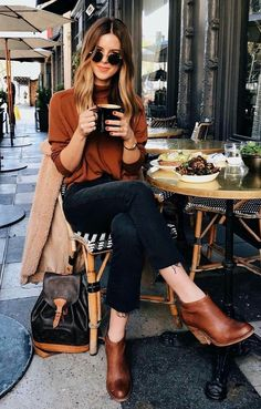 Casual fashion outfits ideas for fall winter outfits Fall Outfits 2018, Mode Outfits, Fall Winter Outfits, Fashion Outfits, Winter Weekend Outfit, Fashion Boots, Dress Winter, Weekend Style, Fashion Ideas