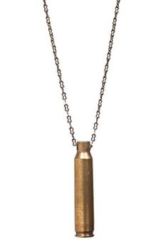 Te Ammo Necklace made from upcycled bullet casings www.hearts.com