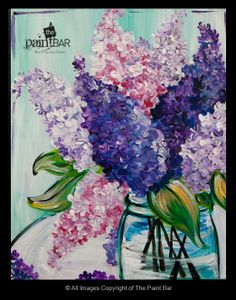 Lilacs in a Mason Jar Painting - Jackie Schon, The Paint Bar