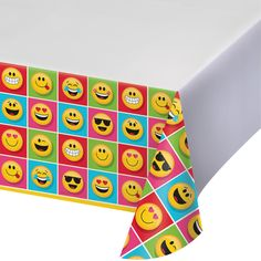 "Show Your Emojions 54"" x 102"" Plastic Tablecover Border Print/Case of 6 https://www.ktsupply.com/products/32786351022/Show-Your-Emojions-54doublequote-x-102doublequote-Plastic-Tablecover-Border-PrintCase-of-6.html"