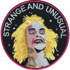 Strange and Unusual is a 9 cm embroidered patch with merrowed edge and iron-on backing. Made in Spain. Follow the iron on patch instructions below...