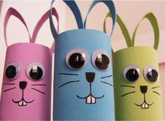 Crafts for Kids: Toilet Paper Roll Easter Bunnies