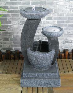 Smart jardin solaire en céramique émaillée grenouille d/'eau jardin fonction fontaine baignoire oiseaux