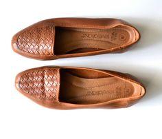 Woven Leather Shoes - Vintage - Shop Uncovet