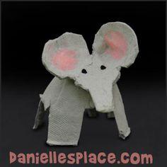 Elephant Craft - Egg Carton Elephant Craft from www.daniellesplace.com