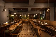 This elegant restaurant, Paradis, in Hong Kong features our Verona and Puretann leathers, evoking a moody palette of rich textures and earthy tones - Instyle
