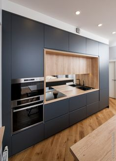 Kitchen wall is the essential side of our kitchen, the wall became the first view. That's why kitchen wall ideas became the most important thing. Simple Kitchen Design, Kitchen Room Design, Best Kitchen Designs, Kitchen Cabinet Design, Kitchen Layout, Home Decor Kitchen, Interior Design Kitchen, Kitchen Furniture, New Kitchen