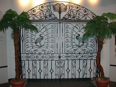 A Philip Simmons gate- wrought iron artist from Charleston, SC.