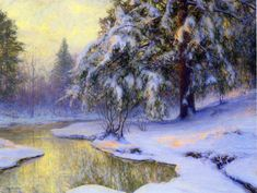 The Athenaeum - Pine Tree At Sunset (Walter Launt Palmer - )