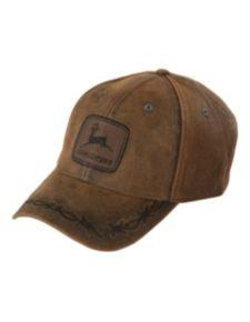 John Deere Oilskin Look Patch Casual Cap