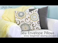 Pillow Cover Tutorial - YouTube