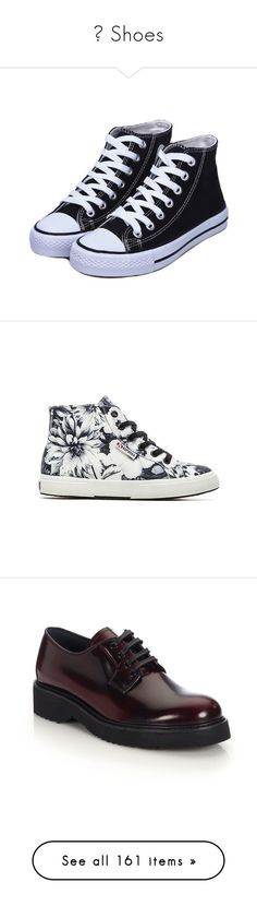 """""""♥ Shoes"""" by pantherinae on Polyvore featuring shoes, sneakers, boots, buty, creepers, creeper sneakers, high top platform sneakers, black high top shoes, black hi top sneakers and black high tops"""