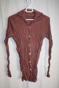 cocon.commerz PRIVATSACHEN MIX Bluse aus Crashseide in braun. Größe 1