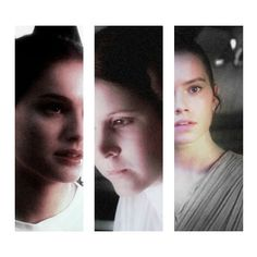 The female heroes of Star Wars. Padme in the prequels, Leia in the Original Triliogy, and Rey in the new triliogy.