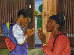 Black art prints & African American Art & Gifts F.Mathews - Open Edition print First Things - Fred Mathews Open Edition Print Paper: 24 x 36 Image: 22 x 34 Train up a child in the way it should go. Black Love Art, Black Girl Art, Black Is Beautiful, Art Girl, Black Child, Image Jesus, Black Church, Black Art Pictures, Black Artwork