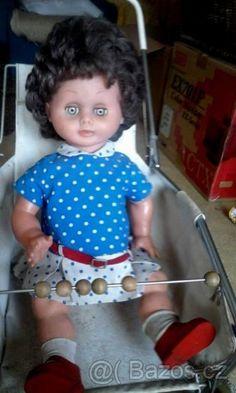 panenka a kočárek - 1 Retro Toys, Dolls, Vintage, Decor, Baby Dolls, Decoration, Puppet, Doll, Vintage Comics