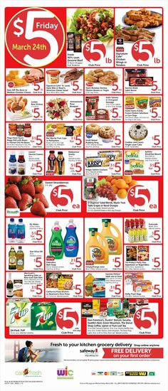 Safeway $5 Friday Ad March 24, 2017 - http://www.olcatalog.com/grocery/safeway-5-friday.html