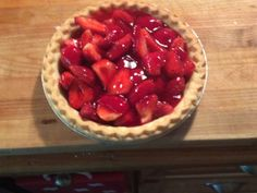 This recipe comes from AAARecipe.com and just in time for strawberry season. Azars restaurant had the greatest tasting pie!