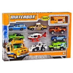 Matchbox Gift Pack (Styles May Vary): Racing speedsters heavy duty workhorses specialty vehicles and more! It's a Matchbox Gift Pack and it's ready for kid-powered action right out of . Sports Games For Kids, Toys For Boys, Kids Toys, Baby Toys, Play Vehicles, Matchbox Cars, Thing 1, Learning The Alphabet, Retro Toys