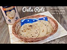 If you are tired of eating the same oatmeals in your weight loss journey, try this oatmeal chapati recipe in your diet plan. Gluten Free Oat Bread, Gluten Free Naan, Gluten Free Pancakes, Vegan Bread, Gluten Free Baking, Gluten Free Recipes, Healthy Recipes, Chapati Recipes, Gluten Free Weight Loss