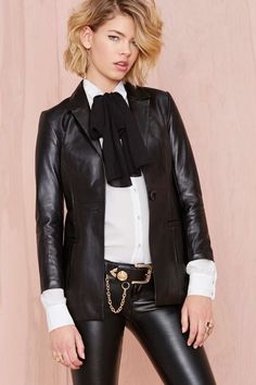 Nasty Gal Vital Leather Blazer | Shop Clothes at Nasty Gal