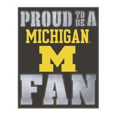 Evergreen Enterprises, Inc NCAA Metal LED Wall Décor NCAA Team: University Of Michigan