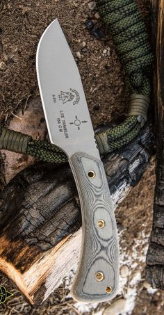 Tops Knives P001 Tops Pasayten Lite Traveller Fixed Blade Knife with Micarta Handles & Kydex Sheath
