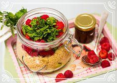 Cous Cous mit Gurke und Himbeeren Ayurveda, Vegetables, Food, Raspberries, Thermomix, Meal, Eten, Vegetable Recipes, Meals