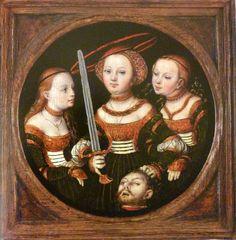 ❤ - LUCAS CRANACH (1472 - 1553) - Judith with the Head of Holofernes - 1525. Arp Museum Bahnhof Rolandseck.