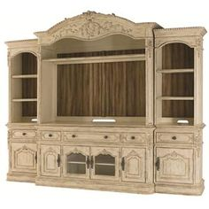 Want - Jessica McClintock Home - The Boutique Collection Complete Entertainment Unit with Bonnet Shaped Top by American Drew at Hudson's Furniture