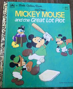 vintage Little Golden Book, Walt Disney's Mickey Mouse and the Great Lot Plot,  100-42, 1974 by MotherMuse on Etsy