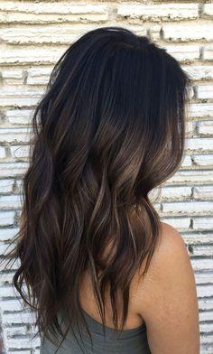 Fabulous Long Brunette And Grey Balayage Hairstyles