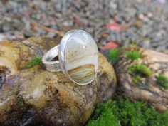 Picture jasper ring, #594 size 7 3/4 by www.sandyriverjewelry.com