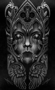 #woman #face #drawing #draw #simetry Tribal Sleeve Tattoos, Skull Tattoos, Body Art Tattoos, Filigree Tattoo, Metal Tattoo, Norwegian Tattoo, Totem Tattoo, Girl Face Tattoo, Dark Art Illustrations